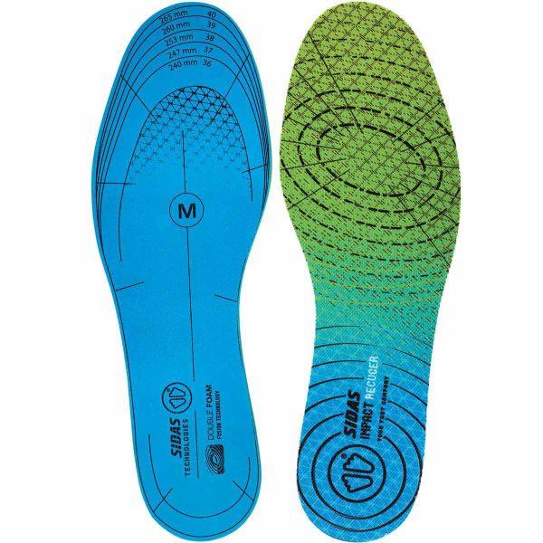 SIDAS Semelle chaussure Impact Reducer Dualfoam Bleu/Vert S