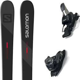 SALOMON TNT BLACK/GREY/RED 21 + MARKER 11.0 TCX BLACK/ANTHRACITE 20