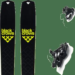 Ski randonnée BLACK CROWS BLACK CROWS SOLIS 22 + MARKER ALPINIST 10 BLACK/TITANIUM 22 - Ekosport