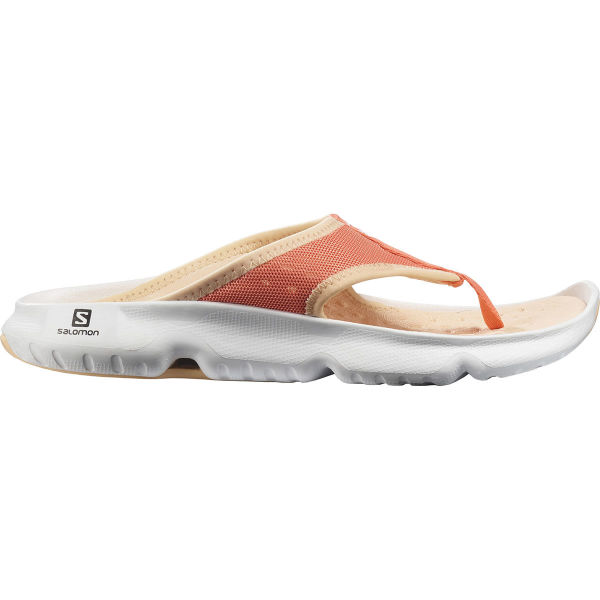 SALOMON Tong de récupération Reelax Break 5.0 W Perimon/white/almond Cream Femme Orange/Blanc taille 3.5