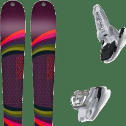 Pack ski alpin K2 K2 MISSCONDUCT + MARKER GRIFFON 13 ID WHITE - Ekosport