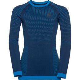 ODLO PERFORMANCE WARM KIDS BL TOP CREW NECK L/S ESTATE BLUE - DIRECTOIRE BLUE 21