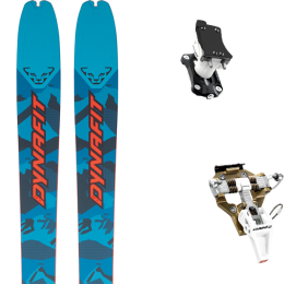DYNAFIT SEVEN SUMMITS+ BLUE/ RED 21 + DYNAFIT SPEED TURN 2.0 BRONZE/BLACK 21