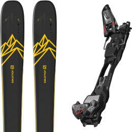 Boutique SALOMON SALOMON QST 92 DARK BLUE/YELLOW 20 + MARKER F12 TOUR EPF BLACK/ANTHRACITE 21 - Ekosport