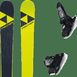 Pack ski alpin FISCHER FISCHER NIGHTSTICK 21 + MARKER GRIFFON 13 ID BLACK 22 - Ekosport