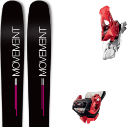 Boutique MOVEMENT MOVEMENT GO 100 WOMEN 19 + TYROLIA ATTACK² 13 GW W/O BRAKE [A] RED 20 - Ekosport