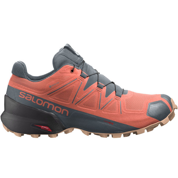 SALOMON Chaussure trail Speedcross 5 Gore-tex W Persimon/phantom/almond Cream Femme Rose/Gris taille 3.5