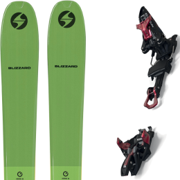 BLIZZARD ZERO G 095 GREEN 22 + MARKER KINGPIN 13 75-100MM BLACK/RED 21