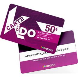 Offre spéciale EKOSPORT E-CARD KDO 50€ - Ekosport