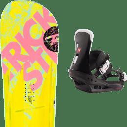 Pack snowboard ROSSIGNOL ROSSIGNOL TRICKSTICK AF (ASYM FRAME) 19 + BURTON FREESTYLE BLACK 21 - Ekosport