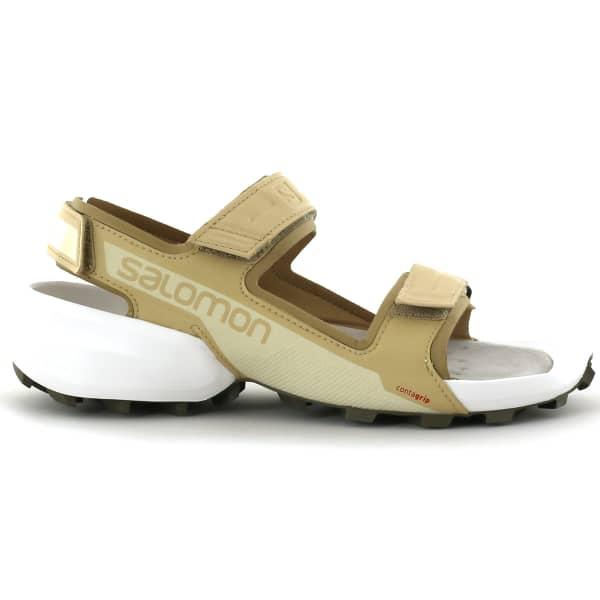 SALOMON Sandale de récupération Speedcross Sandal Safari/wht/bungc Homme Beige taille 8.5