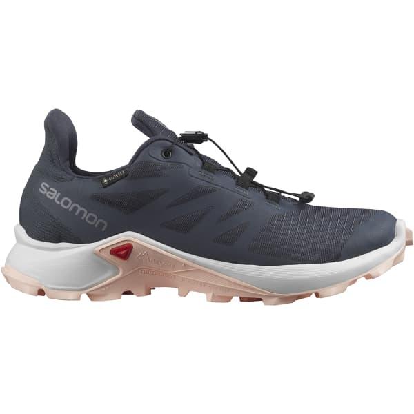 SALOMON Chaussure trail Supercross 3 Gore-tex W India Ink/vanilla/peachy Keen Femme Bleu taille 3.5