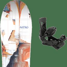 Snowboard NITRO NITRO SANTOKU 21 + NITRO ZERO ULTRA BLACK 21 - Ekosport