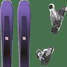 Pack ski alpin SALOMON SALOMON AIRA 84 TI PURPLE/BLACK 20 + SALOMON WARDEN 11 N SILVER/BLACK L90 19 - Ekosport