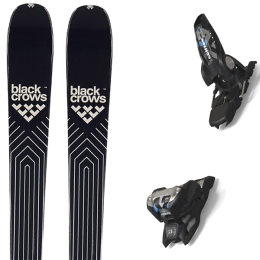 BLACK CROWS DIVUS 21 + MARKER GRIFFON 13 ID BLACK 20