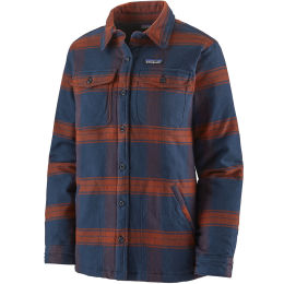 PATAGONIA W'S INSULATED FJORD FLANNEL JKT BURLWOOD NEW NAVY 21