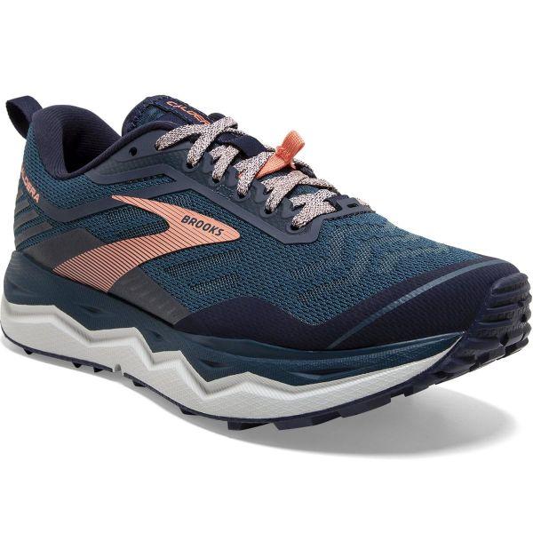 BROOKS Chaussure trail Caldera 4 W Blue/peacoat/desert Flower Femme Bleu/Rose taille 6