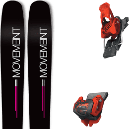 Pack ski alpin MOVEMENT MOVEMENT GO 100 WOMEN 19 + TYROLIA ATTACK² 13 GW BRAKE 110 [A] RED 20 - Ekosport