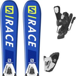 SALOMON S/RACE JR XS + C5 BLACK/WHITE 20