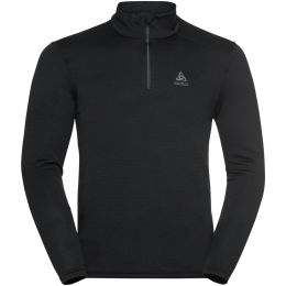 ODLO T-SHIRT ML 1/2 ZIP ACTIVE THERMIC BLACK MELANGE 21