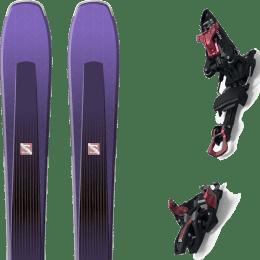 Pack ski alpin SALOMON SALOMON AIRA 84 TI PURPLE/BLACK 20 + MARKER KINGPIN 13 75-100MM BLACK/RED 22 - Ekosport