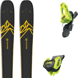 Pack ski alpin SALOMON SALOMON QST 92 DARK BLUE/YELLOW 20 + TYROLIA ATTACK² 11 GW BRAKE 100 [L] FLASH YELLOW 20 - Ekosport