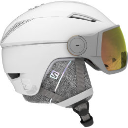 SALOMON ICON² VISOR PHOTO WHITE/AW RED 21
