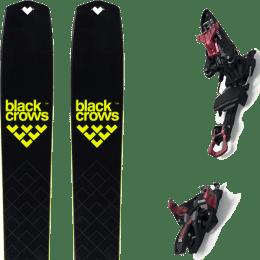 Ski randonnée BLACK CROWS BLACK CROWS SOLIS 22 + MARKER KINGPIN 13 75-100MM BLACK/RED 22 - Ekosport