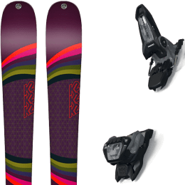 Pack ski alpin K2 K2 MISSCONDUCT + MARKER JESTER 16 ID BLACK/GRAY - Ekosport