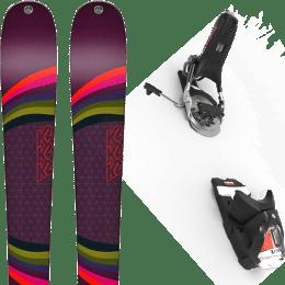 Pack ski alpin K2 K2 MISSCONDUCT + LOOK PIVOT 14 GW B95 BLACK/ICON - Ekosport