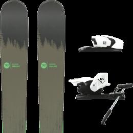 Pack ski alpin ROSSIGNOL ROSSIGNOL SMASH 7 20 + SALOMON Z12 B90 WHITE/BLACK 21 - Ekosport