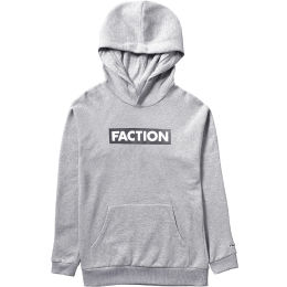 FACTION JUNIOR LOGO HOODIE CLOUDY GREY 21