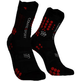 COMPRESSPORT PRO RACING SOCKS V3.0 TRAIL BLACK/RED 21