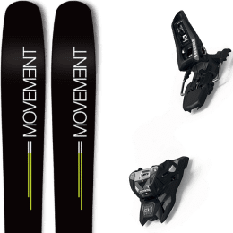 Landing housse ski offerte 2018 MOVEMENT MOVEMENT GO 109 19 + MARKER SQUIRE 11 ID BLACK 21 - Ekosport