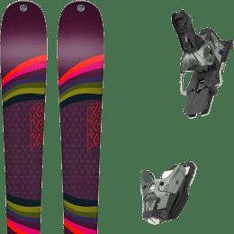 Pack ski alpin K2 K2 MISSCONDUCT + SALOMON STH2 WTR 16 N OIL GREEN - Ekosport