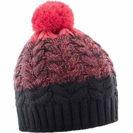 SALOMON POLY BEANIE BLACK/HIBISCUS 19