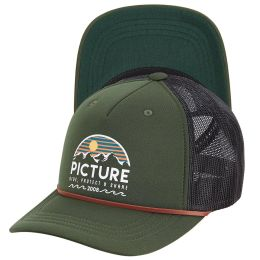 PICTURE KULDO TRUCKER CAP PINE GREEN 21