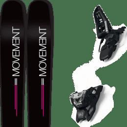 Matériel MOVEMENT MOVEMENT GO 100 WOMEN 19 + MARKER SQUIRE 11 ID BLACK 21 - Ekosport
