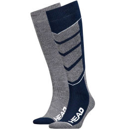 HEAD UNISEX SKI V-SHAPE KNEEHIGH BLUE/GREY MELANGE 2P 20
