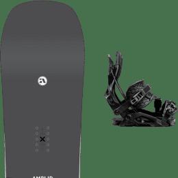 Snowboard AMPLID AMPLID STEREO 21 + FLOW FUSE HYBRID BLACK 21 - Ekosport