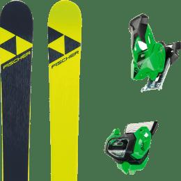 Pack ski alpin FISCHER FISCHER NIGHTSTICK 21 + TYROLIA ATTACK² 13 GW GREEN W/O BRAKE 19 - Ekosport