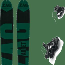 Boutique ZAG ZAG ADRET 81 20 + MARKER ALPINIST 10 BLACK/TITANIUM 22 - Ekosport