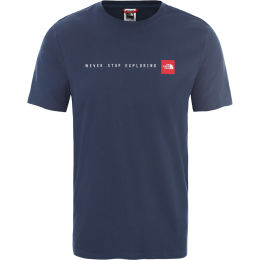 THE NORTH FACE M S/S NSE TEE BLUWGTEAL/TNFRD 20