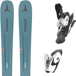 Pack ski alpin ATOMIC ATOMIC VANTAGE 97 C BLUE/GREY 21 + SALOMON Z12 B100 WHITE/BLACK 21 - Ekosport