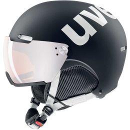 UVEX HLMT 500 VISOR BLACK-WHITE MAT 21