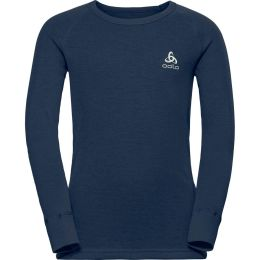 ODLO T SHIRT ML ACTIVE WARM ORIGINALS JR DIVING NAVY 20