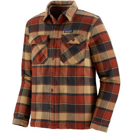 PATAGONIA M'S INSULATED FJORD FLANNEL JKT PLOTS BURNISHED RED 21
