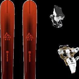SALOMON MTN EXPLORE 88 RED/BLACK 21 + DYNAFIT SPEED TURN 2.0 BRONZE/BLACK 21