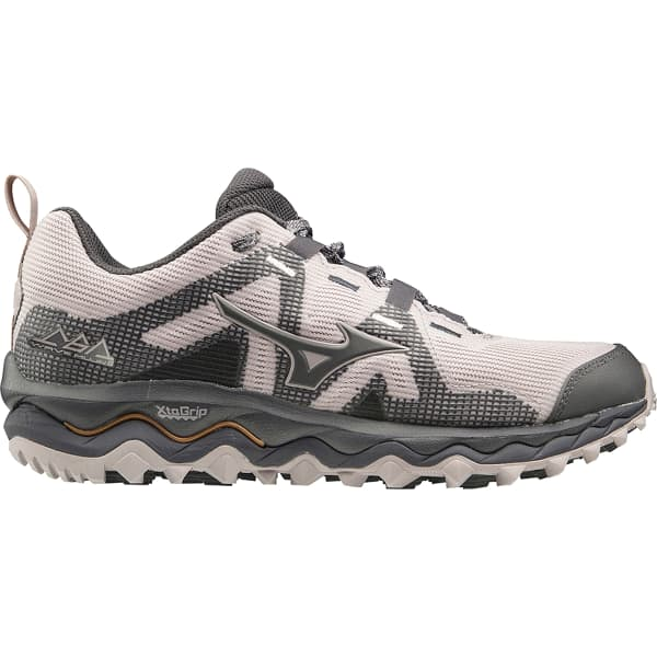 MIZUNO Chaussure trail Wave Mujin 6 W Cloudgray/pscope/10135 C Femme Gris/Rose taille 4.5