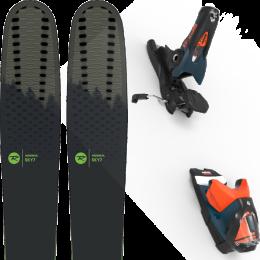 Pack ski alpin ROSSIGNOL ROSSIGNOL SKY 7 HD 20 + LOOK SPX 12 GW B120 PETROL/ORANGE 20 - Ekosport